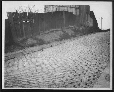 Street Improvement Photographs -- Box 25, Folder 30 (Kress Alley) -- print, 1917-03-20