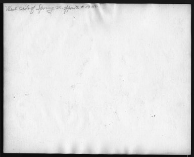 Street Improvement Photographs -- Box 28, Folder 70 (Spring Street) -- print, 1927 (back of photograph)