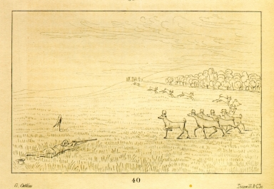 [Antelope shooting, decoyed up, Letters and Notes on the Manners, Customs, and Condition of the North American Indians.]