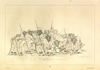 [Buffalo Dance, Mandan, Letters and Notes on the Manners, Customs, and Condition of the North American Indians.]
