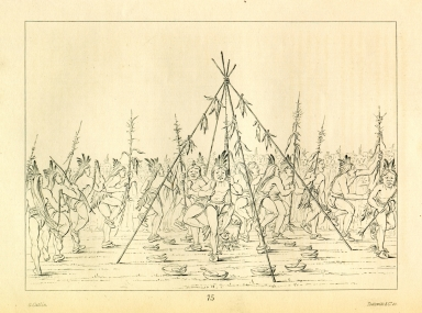 [Green Corn Dance, Hidatsa, Letters and Notes on the Manners, Customs, and Condition of the North American Indians.]