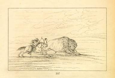 [Buffalo chase, a single death, Letters and Notes on the Manners, Customs, and Condition of the North American Indians.]