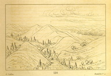 [Beautiful grassy bluffs, 110 miles above St. Louis, Letters and Notes on the Manners, Customs, and Condition of the North American Indians.]