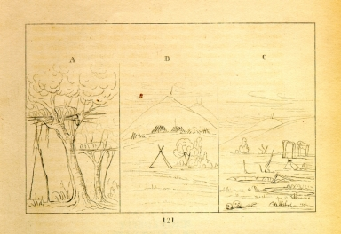 [Burial Types, Letters and Notes on the Manners, Customs, and Condition of the North American Indians.]