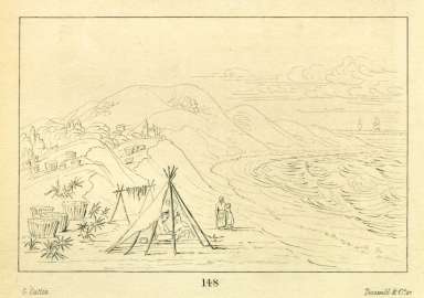 [White sand bluffs, on Santa Rosa Island, near Pensacola, Letters and Notes on the Manners, Customs, and Condition of the North American Indians.]