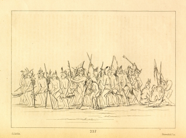 [Dog Dance at Fort Snelling, Letters and Notes on the Manners, Customs, and Condition of the North American Indians.]