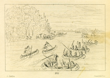 [Canoe race near Sault Ste. Marie, Letters and Notes on the Manners, Customs, and Condition of the North American Indians.]