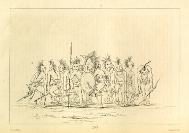 [Begging Dance, Sauk and Fox, Letters and Notes on the Manners, Customs, and Condition of the North American Indians.]