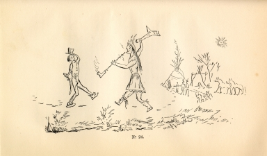 [Adventures of the Ojibbeway and Ioway Indians in England, France, and Belgium., Hail Storm's Sketch of the First Interview Between White Men and the Ojibwa Indians]