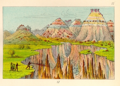 "[The Manners, Customs, and Condition of the North American Indians., ""Brick Kilns,"" clay bluffs 1900 miles above St. Louis]"