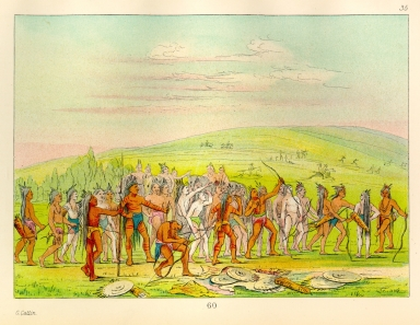 [The Manners, Customs, and Condition of the North American Indians., Archery of the Mandan]
