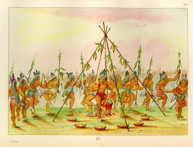 [The Manners, Customs, and Condition of the North American Indians., Green Corn Dance, Hidatsa]