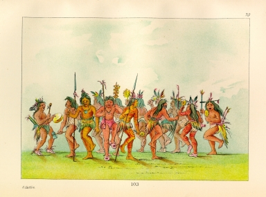 [The Manners, Customs, and Condition of the North American Indians., Beggar's Dance, mouth of the Teton River]