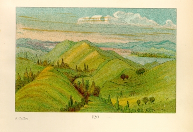 [The Manners, Customs, and Condition of the North American Indians., Beautiful grassy bluffs, 110 miles above St. Louis]