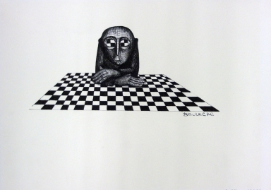 Checkerboard Eyed Man