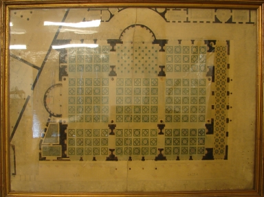 Architectural Drawing of the Vatican