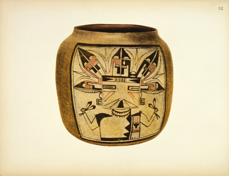 [Pueblo Indian Pottery; 50 reproductions in color from specimen in the famous collection of the Indian arts fund, Ceremonial Jar]