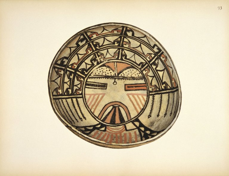 [Pueblo Indian Pottery; 50 reproductions in color from specimen in the famous collection of the Indian arts fund, Ceremonial Bowl]