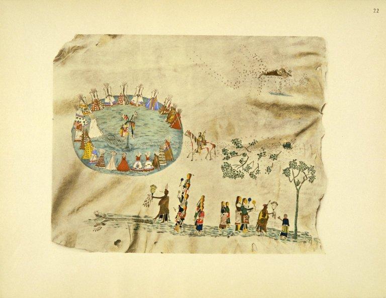 [Sioux Indian painting, Sun Dance Ritual]