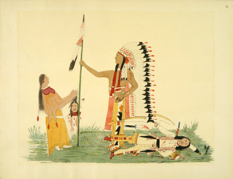 [Sioux Indian painting, Legendary Episodes]