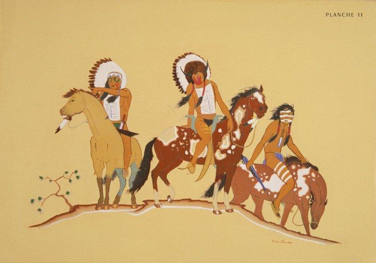 [Les peintres indiens d'Amérique, American Indian painters, Three Young Warriors]