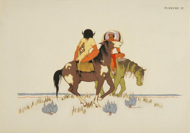 [Les peintres indiens d'Amérique, American Indian painters, Two Horsemen]