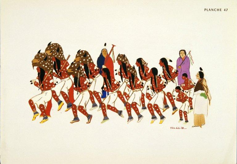[Les peintres indiens d'Amérique, American Indian painters, Taos Buffalo Dancers]