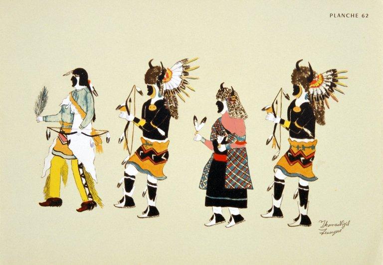 [Les peintres indiens d'Amérique, American Indian painters, Tesuque Buffalo Dance]