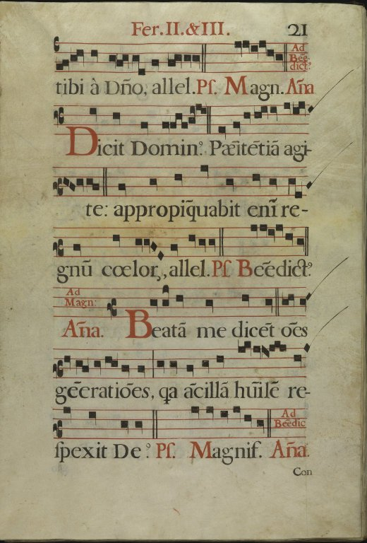The Spanish Antiphoner. Page 21