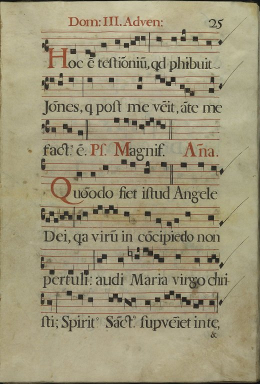 The Spanish Antiphoner. Page 25
