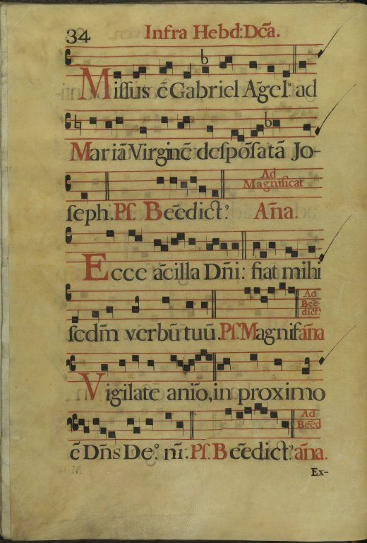 The Spanish Antiphoner. Page 34