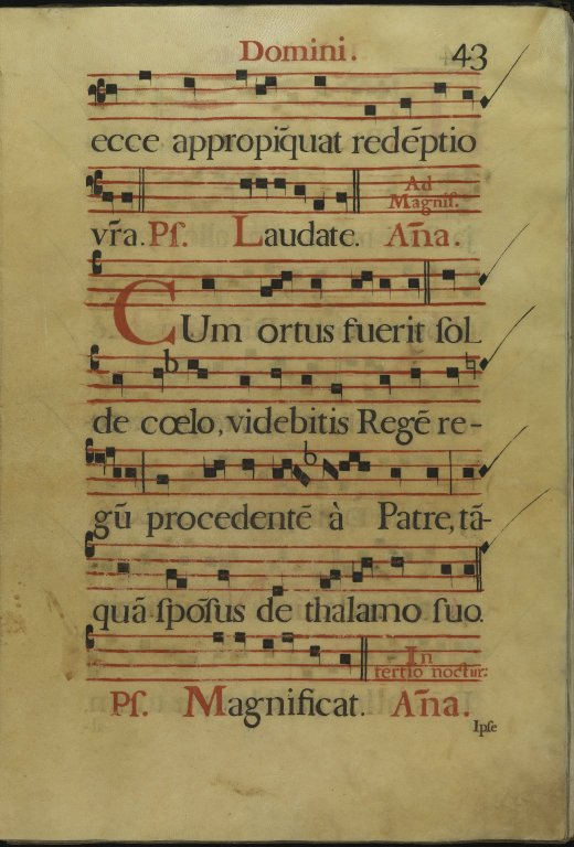 The Spanish Antiphoner. Page 43