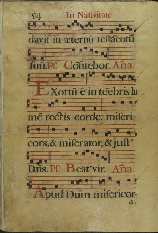 The Spanish Antiphoner. Page 54