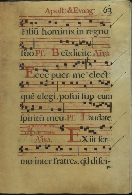 The Spanish Antiphoner. Page 63