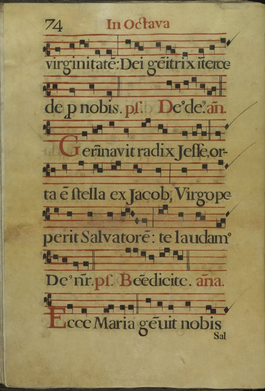 The Spanish Antiphoner. Page 74