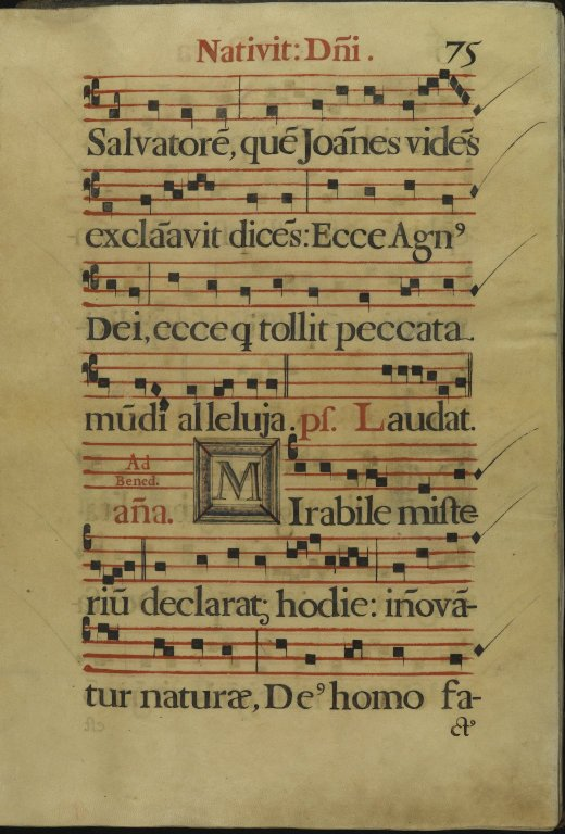 The Spanish Antiphoner. Page 75