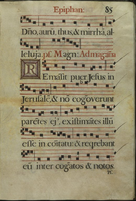 The Spanish Antiphoner. Page 85