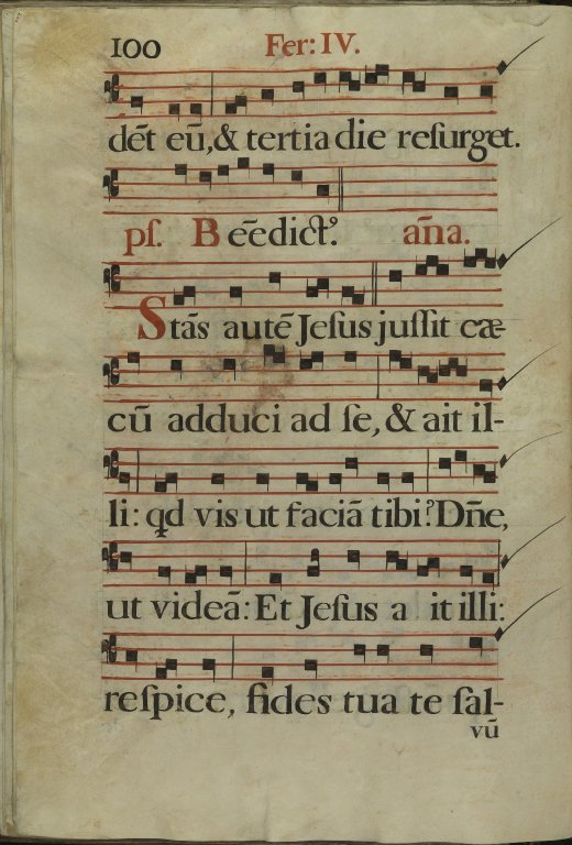 The Spanish Antiphoner. Page 100