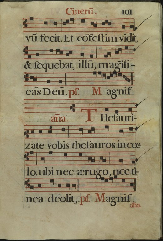 The Spanish Antiphoner. Page 101