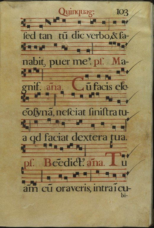 The Spanish Antiphoner. Page 103