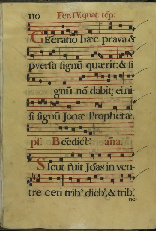 The Spanish Antiphoner. Page 110