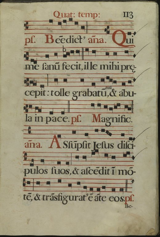 The Spanish Antiphoner. Page 113