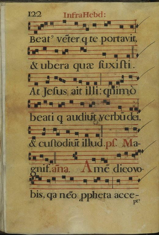 The Spanish Antiphoner. Page 122