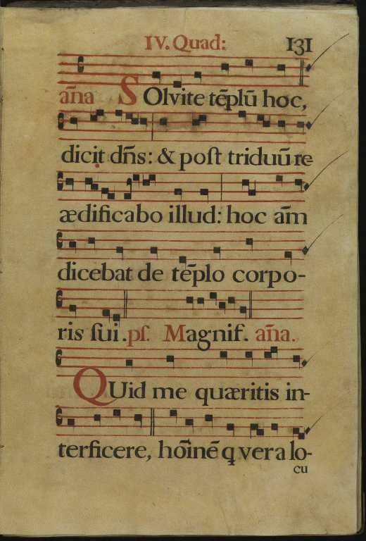 The Spanish Antiphoner. Page 131
