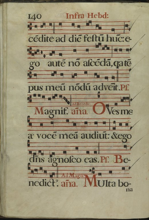 The Spanish Antiphoner. Page 140