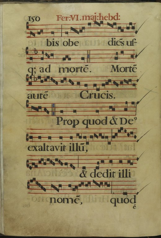 The Spanish Antiphoner. Page 150