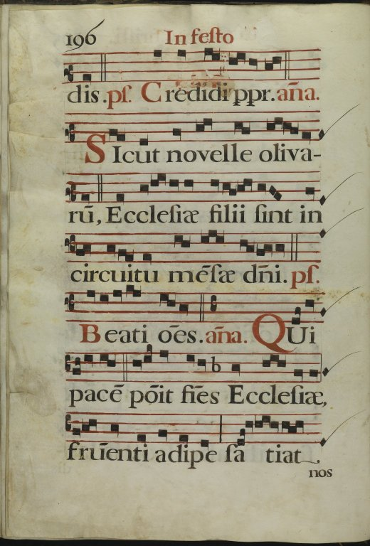 The Spanish Antiphoner. Page 196