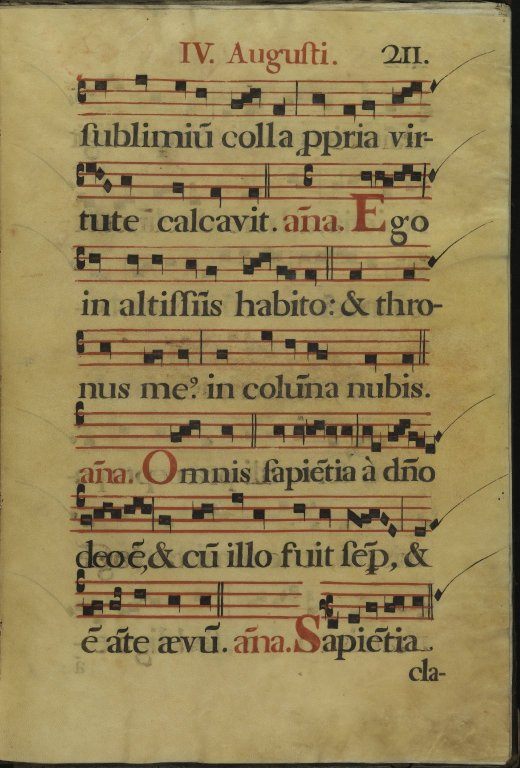 The Spanish Antiphoner. Page 211