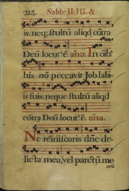 The Spanish Antiphoner. Page 214