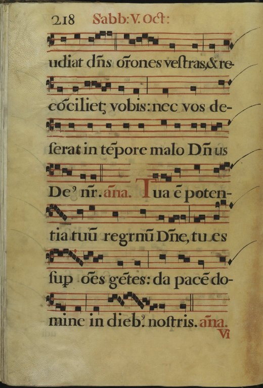 The Spanish Antiphoner. Page 218